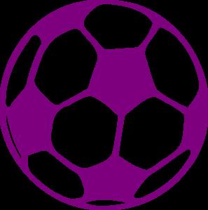 Purple soccer ball clipart