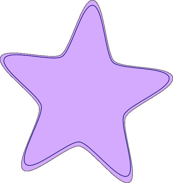 Purple star clipart graphic black and white stock Bright Purple Star Clip Art at Clker.com - vector clip art online ... graphic black and white stock
