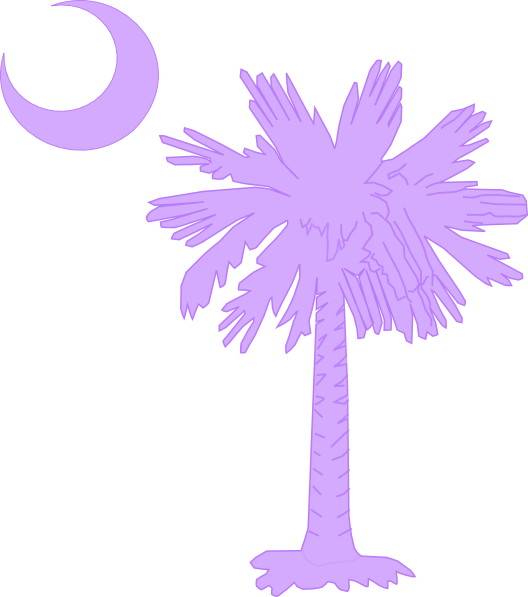 Purple tree clipart graphic black and white stock Purple Palm And Moon Clip Art at Clker.com - vector clip art online ... graphic black and white stock