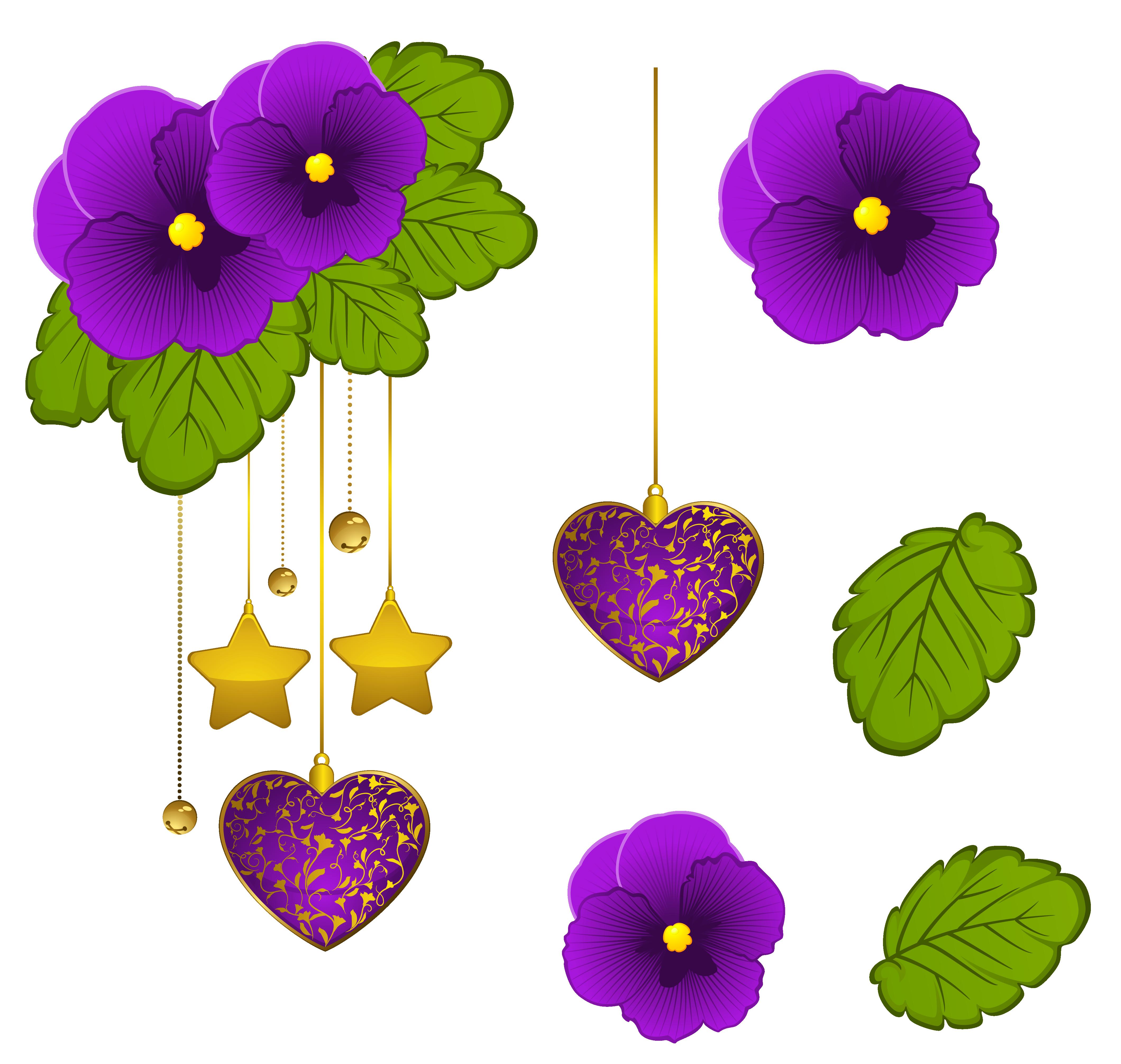 Purple violet clipart clip art library Purple Violets Decorative Element PNG Clipart | Gallery ... clip art library