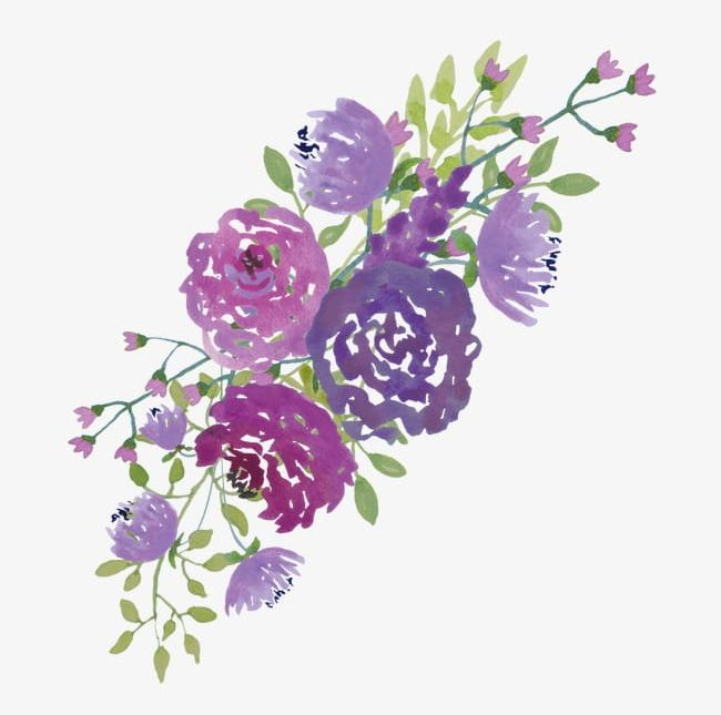 Purpleflowers clipart vector free download Watercolor Purple Flowers PNG, Clipart, Blooming, Blooming ... vector free download