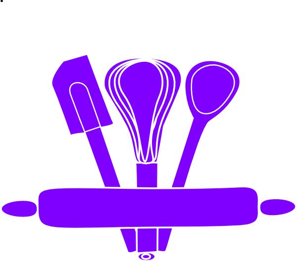 Purplekitchen clipart image freeuse Purple Kitchen Utensils Clip Art At Clker Com Vector Better ... image freeuse
