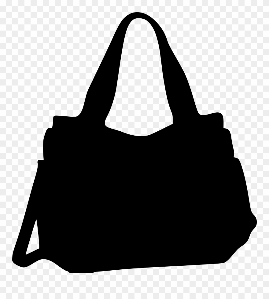 Purse silhouette clipart clip art black and white library Bags Silhouette At Getdrawings Com Free For - Handbag ... clip art black and white library