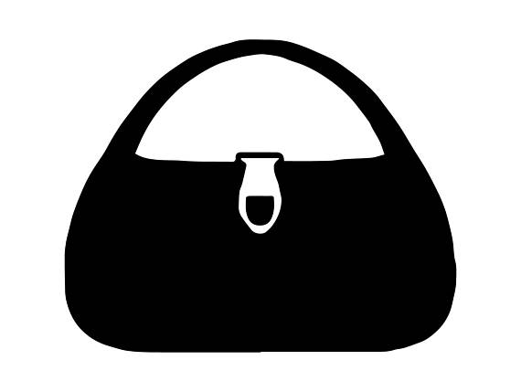 Purse silhouette clipart clip transparent library Pin by Tracy Doucet on *Silouette Cameo | Lost images, Vinyl ... clip transparent library