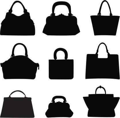 Purse silhouette clipart clip art freeuse download 10 Assorted Handbags clip art freeuse download