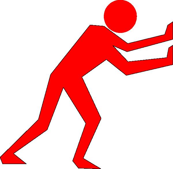 Pushing car clipart vector Man Pushing Red Clip Art at Clker.com - vector clip art online ... vector