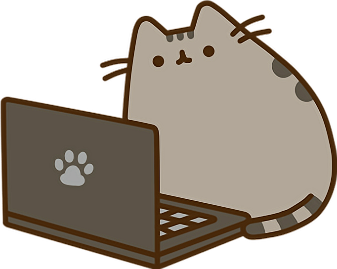 Pusheen cat clipart image freeuse library computer pusheen laptop cat - Sticker by Alissa Denae image freeuse library