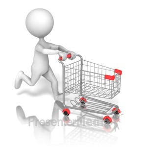 Pushing a full and empty shopping cart clipart clip royalty free stock Stick Figure Pushing Shopping Cart clip royalty free stock