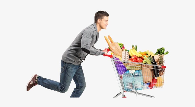 Pushing a full and empty shopping cart clipart png transparent download People Supermarket Png - Pushing A Full Shopping Cart Vs ... png transparent download