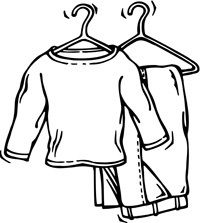 Put on clothes clipart black and white vector transparent Put On Clothes Clipart Black And White | Letters Example ... vector transparent