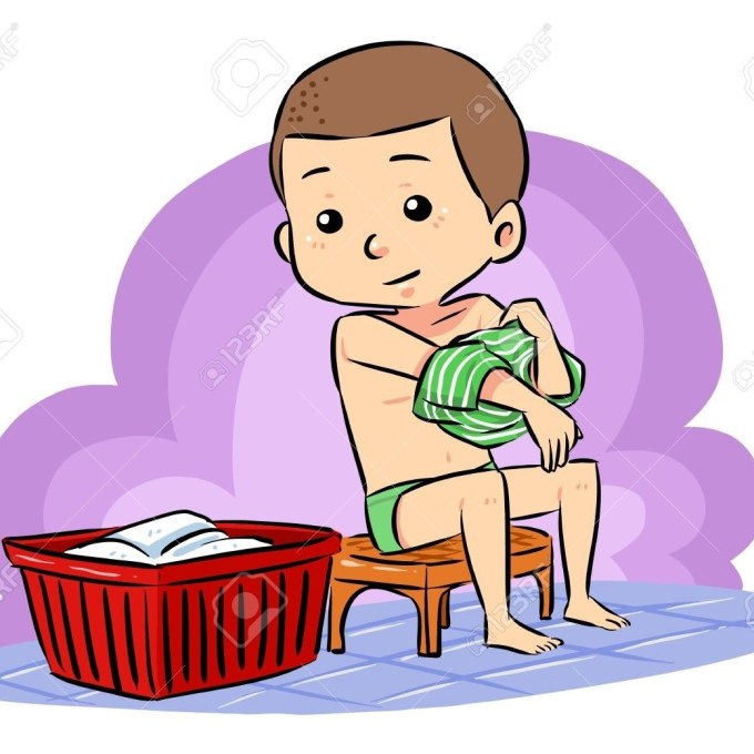 Put on clothes clipart clip black and white Boy Put Clothes In Hamper Clipart Boy Put Clothes In ... clip black and white
