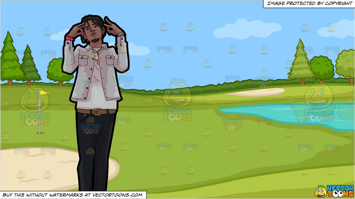 Put on pants clipart white background hq graphic free download A Rapper Doing His Thing and Golf Course Putting Green Background graphic free download