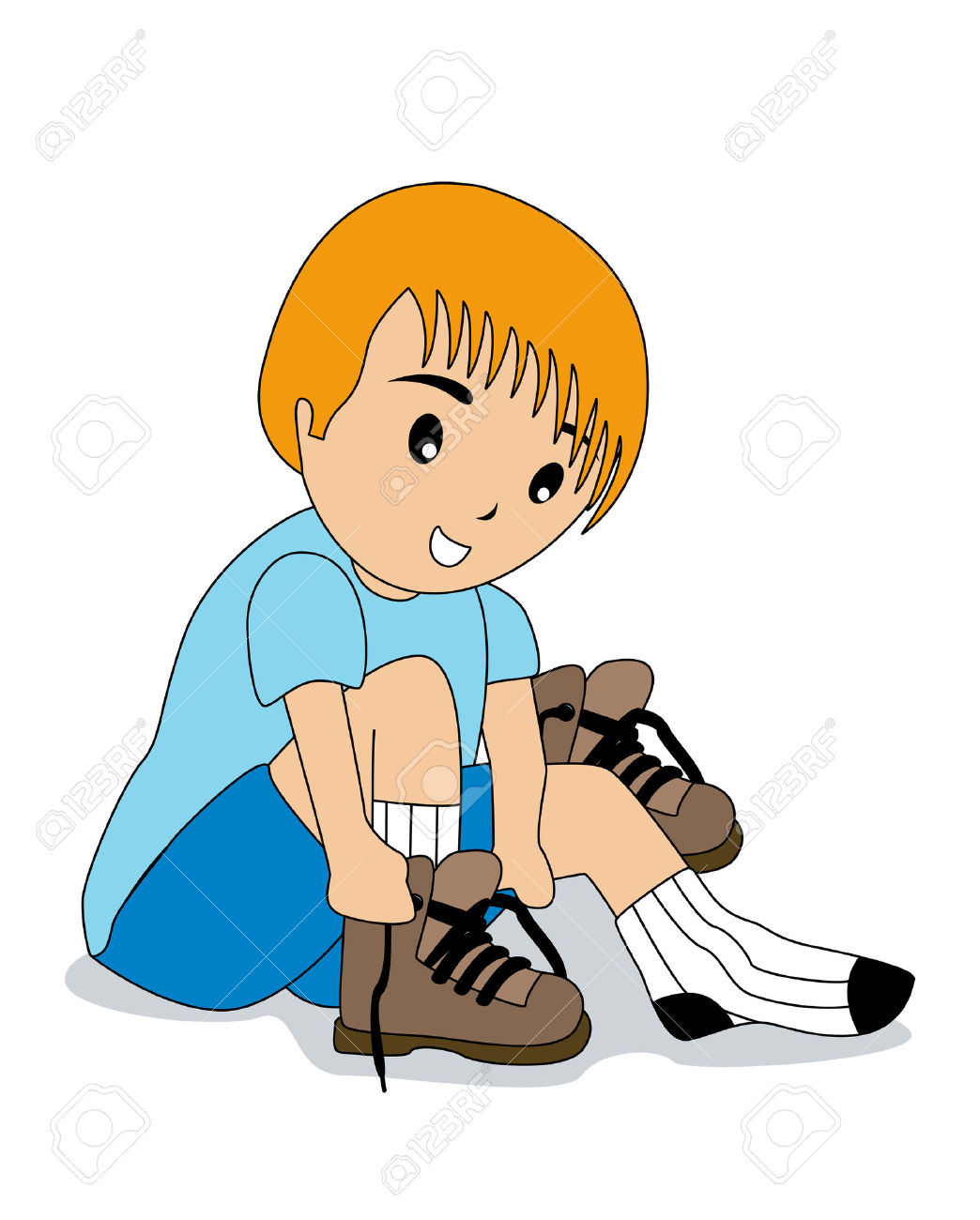 Put on socks and shoes kids clipart graphic library download Put On Socks And Shoes Clipart graphic library download
