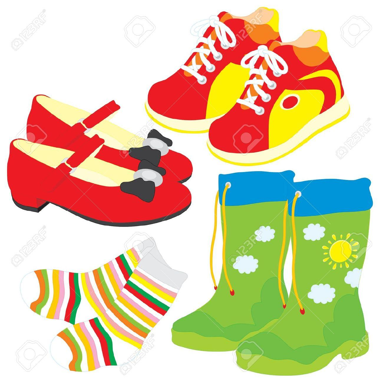 Put on socks and shoes kids clipart clip art library stock Socks And Shoes Clipart - Free Clipart clip art library stock