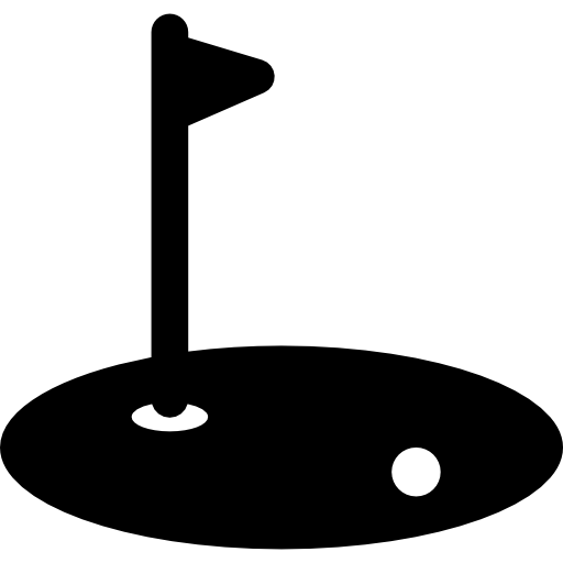 Putting green with flag black and white clipart stock Golf Green Hole free clipart | Clipart Finders stock