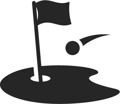 Putting green with flag black and white clipart jpg transparent library Green Fees - Banty\'s Roost Golf and Country Club jpg transparent library