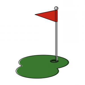 Putting green with flag black and white clipart black and white Stock Photo Golf Flag Ball Hole Black White Vector ... black and white