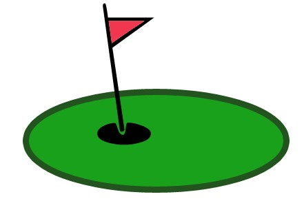 Putting green with flag black and white clipart clipart free Best Golf Clipart #7376 - Clipartion.com clipart free