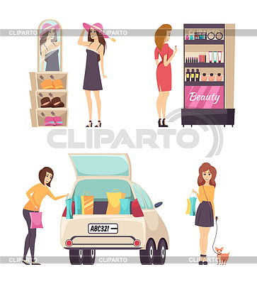 Putting on makeup in the car clipart clipart black and white download Cosmetics | Stock Photos and Vektor EPS Clipart | CLIPARTO / 4 clipart black and white download