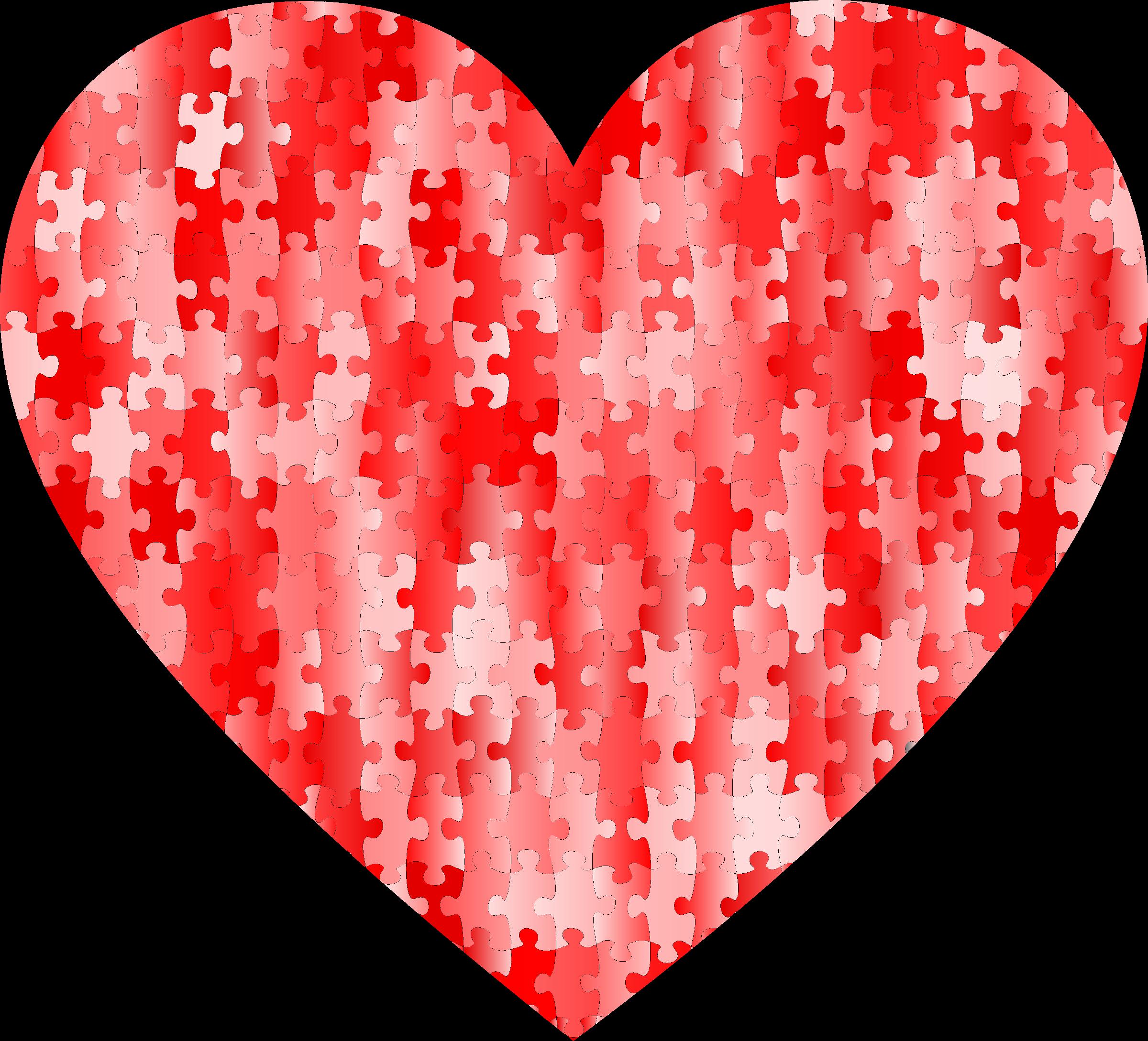 Puzzle heart clipart clip art freeuse download Red puzzle heart 3 Icons PNG - Free PNG and Icons Downloads clip art freeuse download