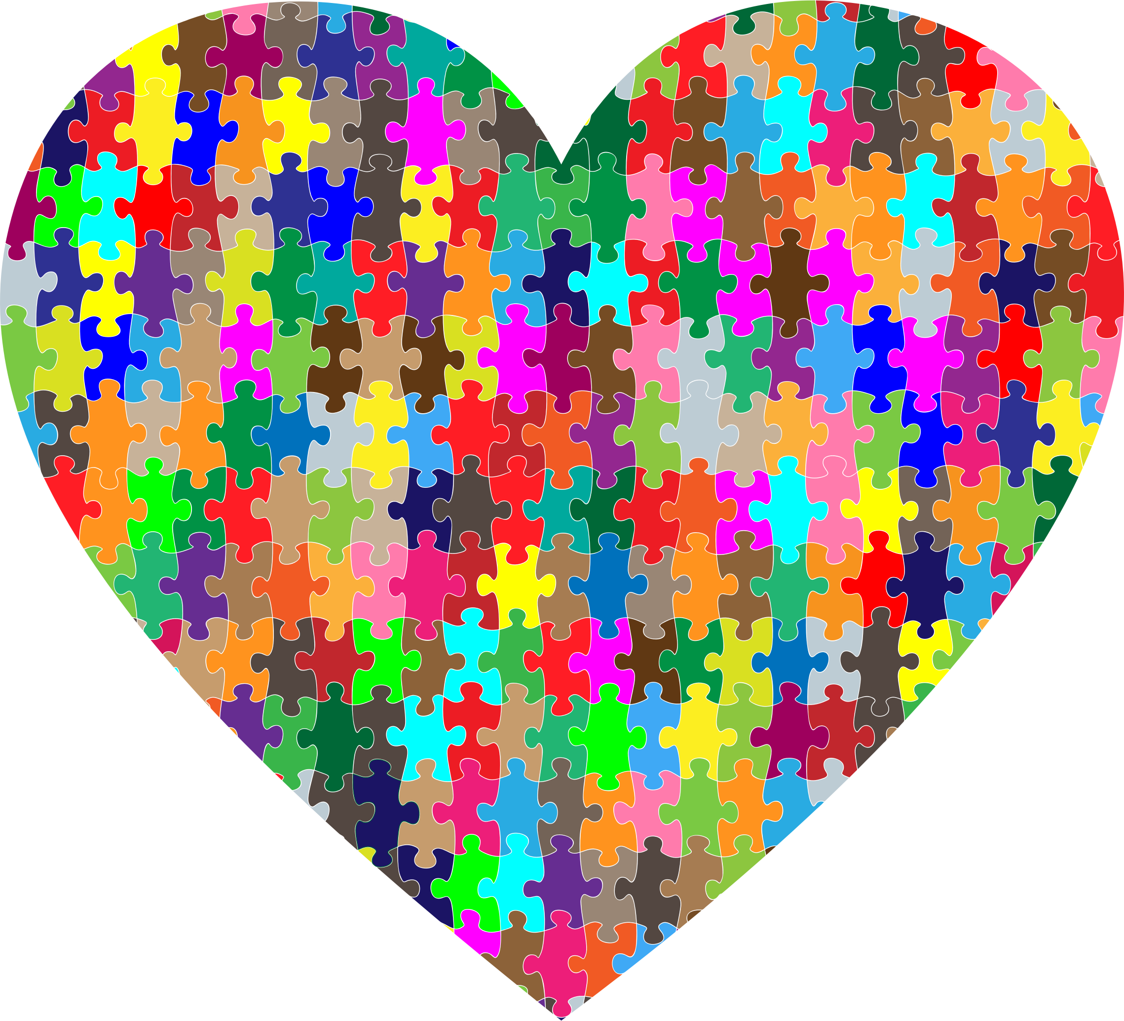 Puzzle heart clipart image freeuse Clipart - Colorful Puzzle Heart image freeuse
