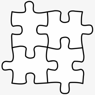 Puzzle pieces clipart black and white clip art royalty free library Banner Freeuse Download Puzzle Piece Clip Art - Puzzle Black ... clip art royalty free library