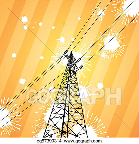 Pylon clipart png stock EPS Vector - Electricity pylon. Stock Clipart Illustration ... png stock