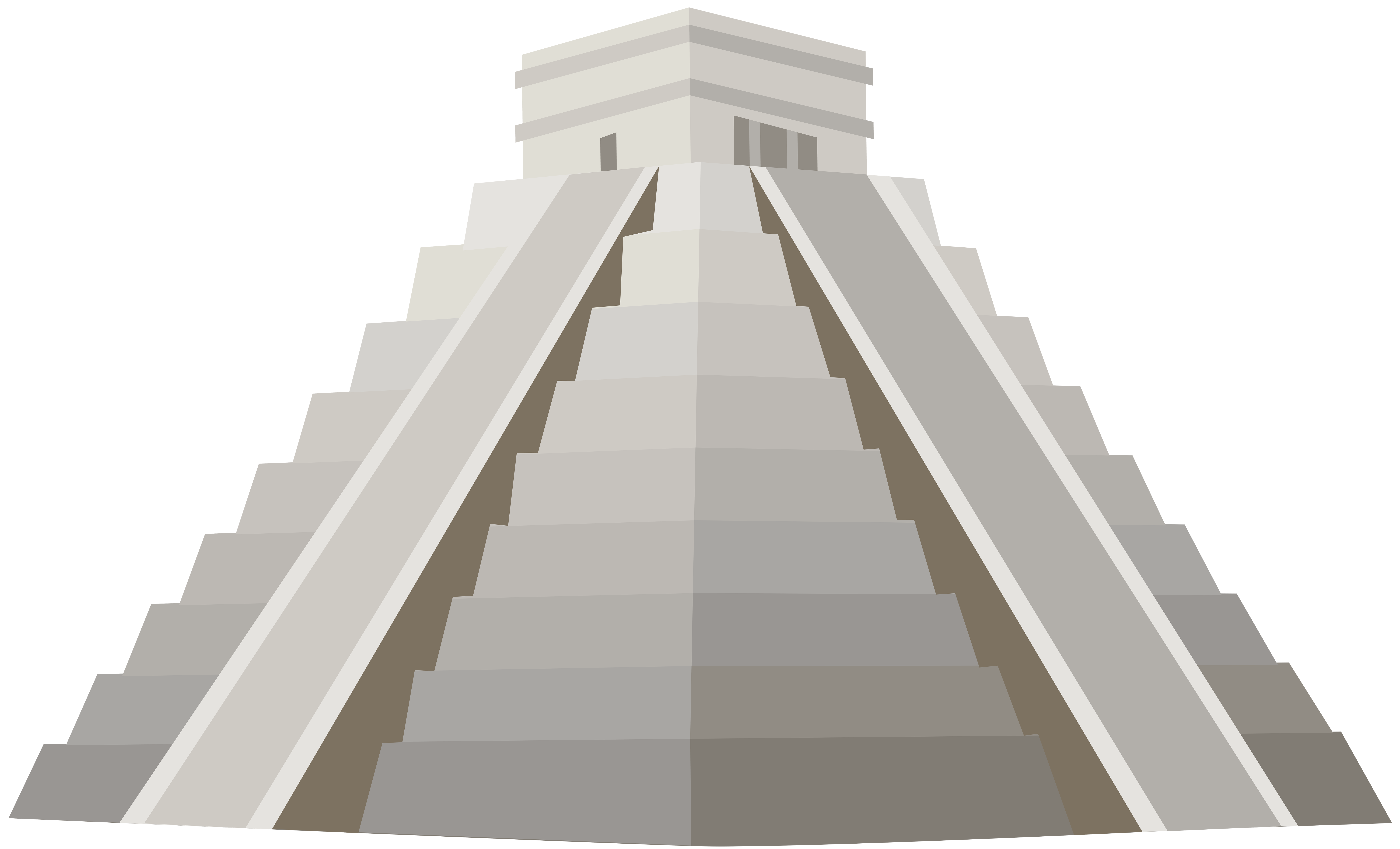 Pyramid with sun clipart picture black and white download Pyramid of Kukulcan PNG Clip Art - Best WEB Clipart picture black and white download