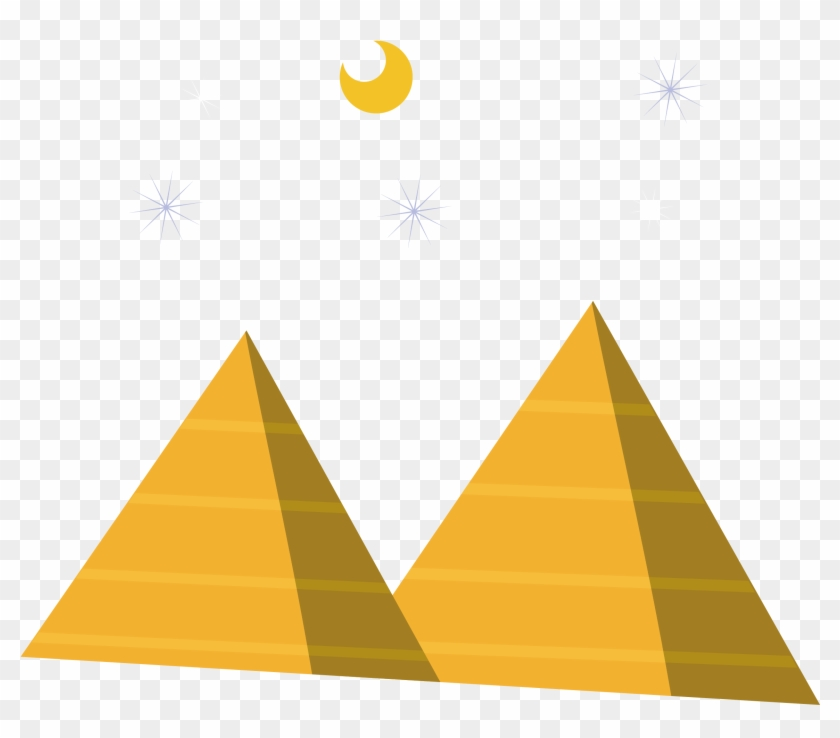 Pyramids clipart picture black and white Night Sky Clipart Egypt - Egyptian Pyramids Clipart, HD Png ... picture black and white