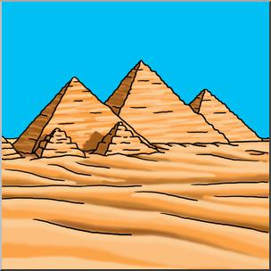 Pyramids clipart graphic black and white library Clip Art: Giza Pyramids Color I abcteach.com   abcteach graphic black and white library