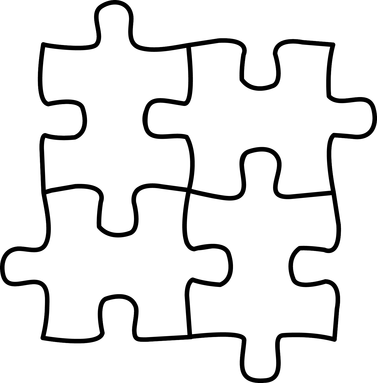 Pzzle clipart png stock Puzzle Clipart Black And White | Free download best Puzzle ... png stock