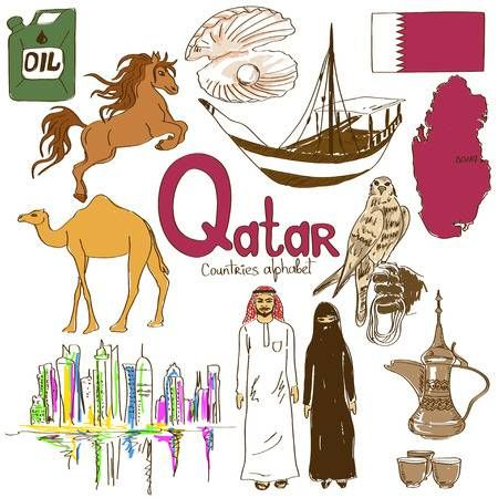 Qatar clipart vector freeuse Stock Vector | Teacher | Geography for kids, Teaching ... vector freeuse