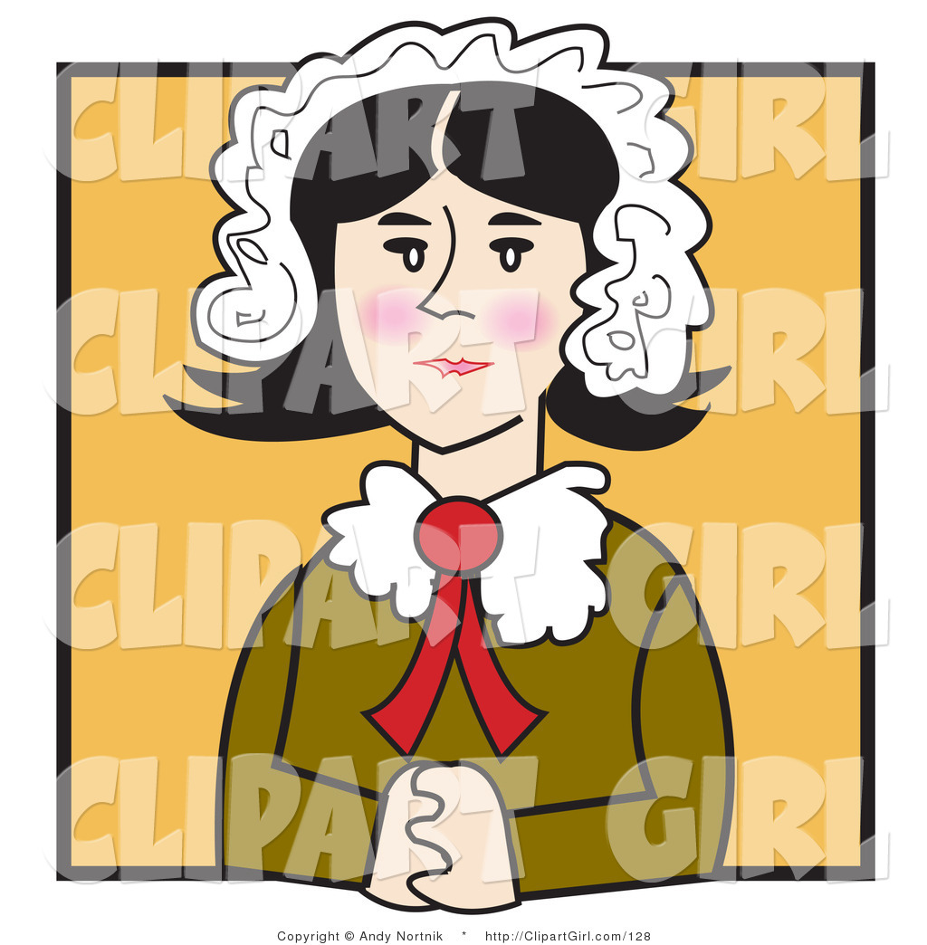 Quakers clipart clip art library Clip Art of an Old Fashioned Quaker Woman with Flushed ... clip art library