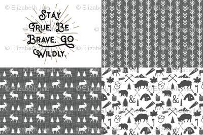 Quarter arrow black clipart clipart freeuse stock Fat Quarter Bundle // Moose Trot, Go Wildly, The Woodcutter ... clipart freeuse stock