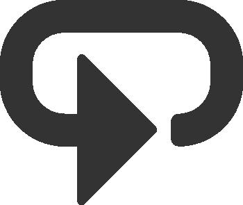 Quarter circle arrow clipart graphic transparent icons - Button for