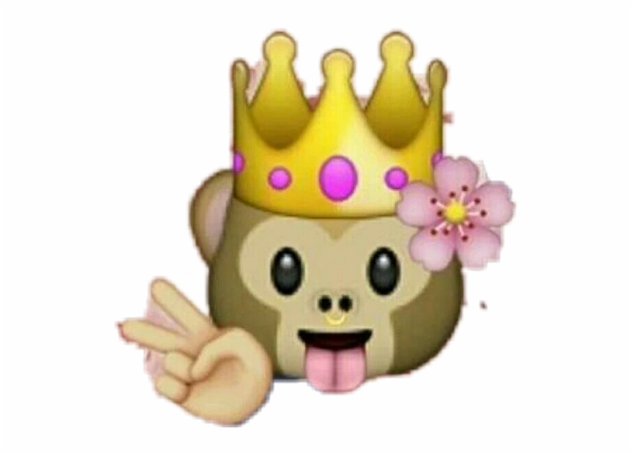 Queen emoji clipart png library stock Sticker Queenmonkey Monkey Queen Emojistickers Emoji - Emoji ... png library stock