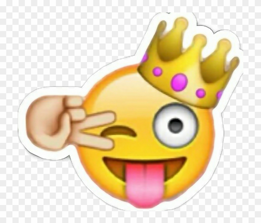 Queen emoji clipart png transparent slaying #slay #king #queen #emjoi #winky #winkyface - Emoji ... png transparent