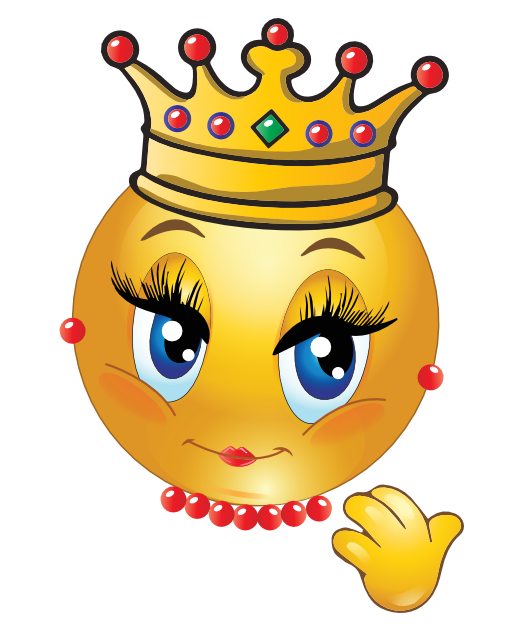 Queen emoji clipart vector black and white library Queen Smiley | Emozi | Emoji faces, Emoji clipart, Emoji images vector black and white library