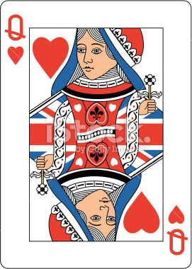 Queen of clubs playing card clipart istock picture download Queen of Hearts playing card dressed in a union jack flag ... picture download