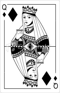 Queen of clubs playing card clipart istock png library Queen of diamonds. Playing card. | tattoo ideas | Cards ... png library