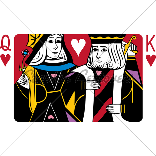 Queen of clubs playing card clipart istock image transparent stock King And Queen Of Hearts · GL Stock Images image transparent stock