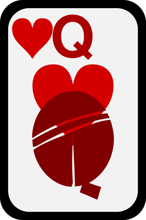 Queen of diamonds clipart clipart free library Queen of Diamonds Clipart, vector clip art online, royalty ... clipart free library