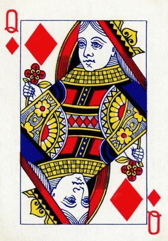 Queen of diamonds clipart royalty free stock Queen of Diamonds from a deck of Goodall & Son Ltd. playing cards, c1940 royalty free stock