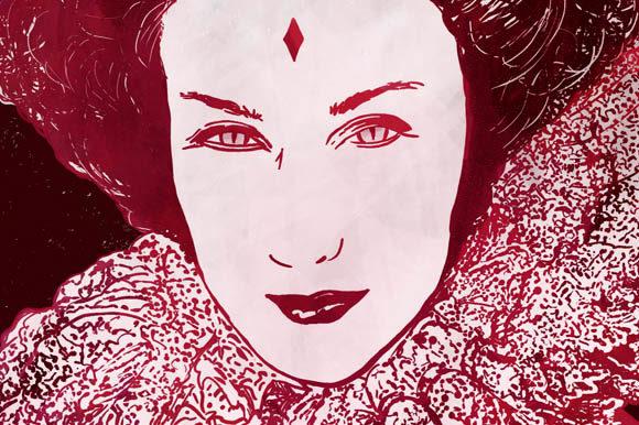 Queen of diamonds clipart clip black and white Queen of Diamonds - in Red Clipart clip black and white