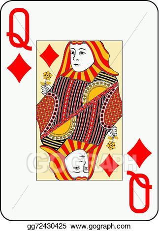 Queen of diamonds clipart clipart library download Vector Art - Jumbo index queen of diamonds. EPS clipart ... clipart library download