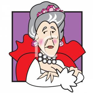Queen of england clipart image freeuse download Queen Sitting At Her Throne - Royalty Free Clipart Picture image freeuse download