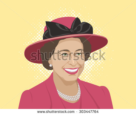 Queen of england clipart picture freeuse library Queen Elizabeth Stock Photos, Royalty-Free Images & Vectors ... picture freeuse library