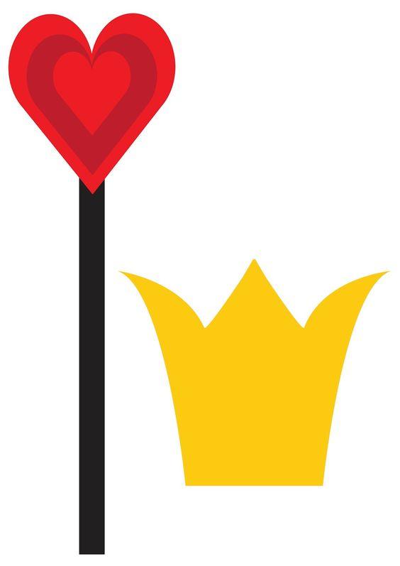 Queen of hearts arrow clipart banner library download Alice in Wonderland Photo Booth - queen of hearts | Trinity's 3rd ... banner library download