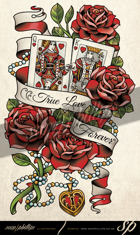 Queen of hearts arrow clipart image free download Cards King and Queen of Hearts Tattoo by Sam-Phillips-NZ ... image free download