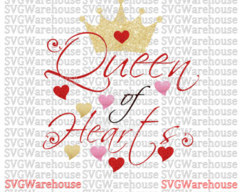 Queen of hearts arrow clipart clip art download Queen of hearts svg | Etsy clip art download